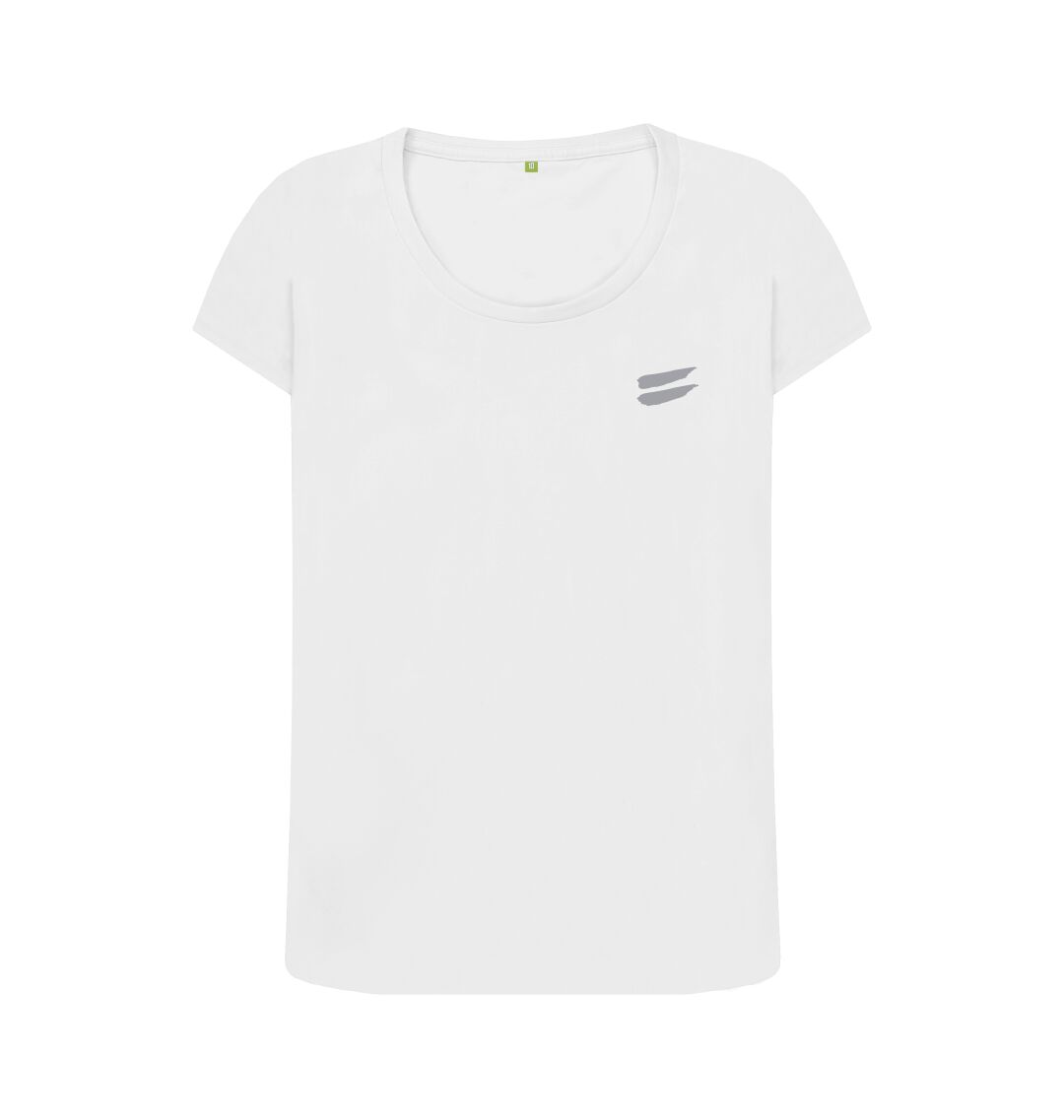 White Tribe Scoop Tee in Steel - Women's