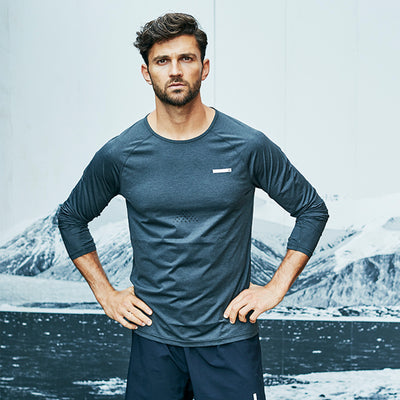 Tech Long Sleeve Tee - Grey Mountain