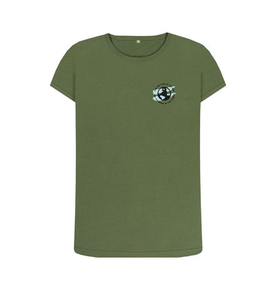 Khaki Earth Tee in Sky - Women's