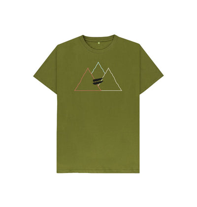Moss Green Summit Tee in Multi - Kid's