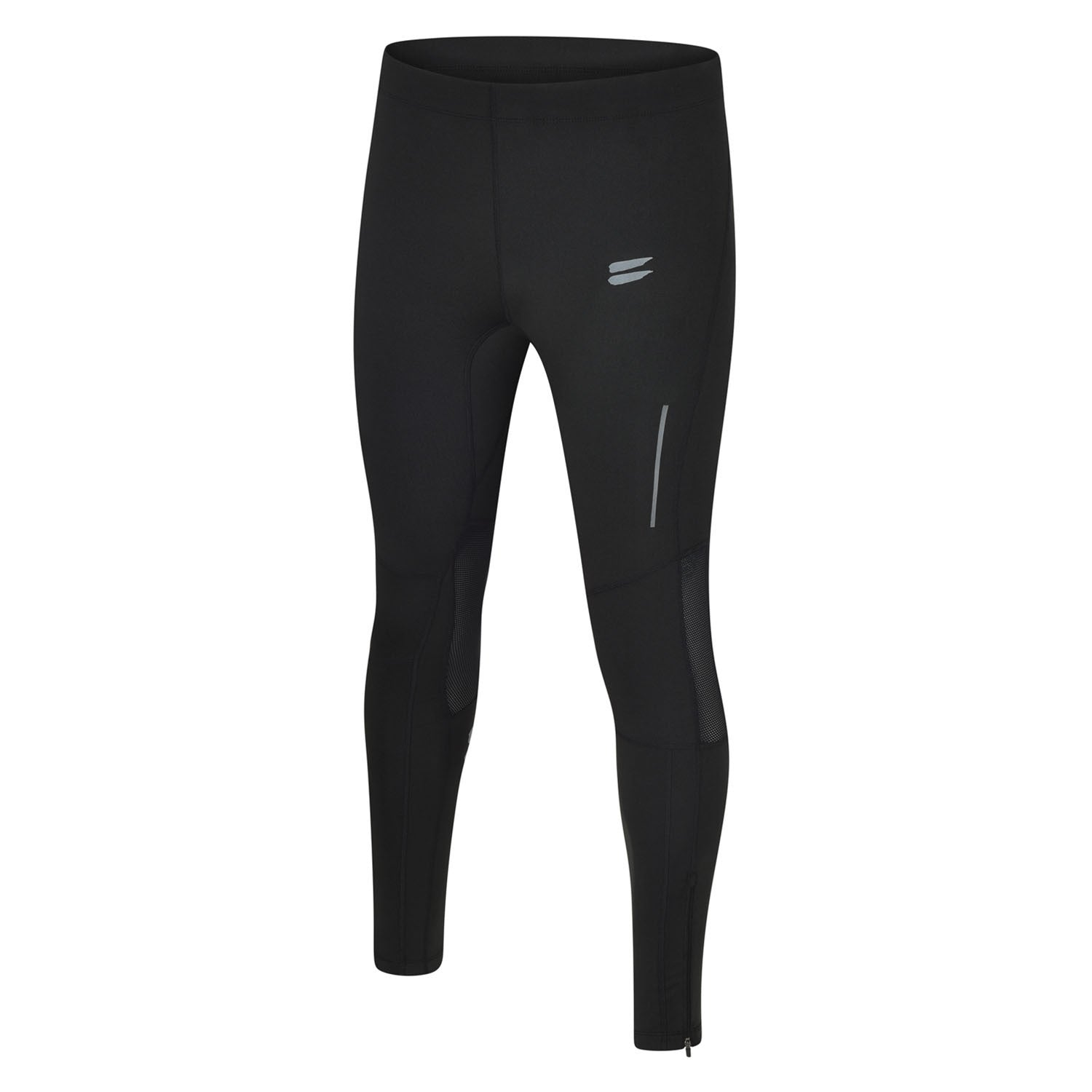 Men's Running Tights - Black / Charcoal , Tribesports - 1