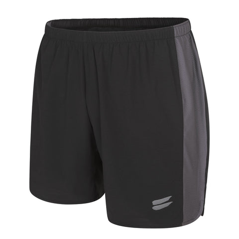 Men's Running Shorts - Black / Charcoal , Tribesports - 1