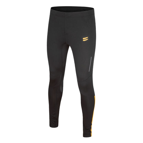 Men's Running Tights - Black / Yellow , Tribesports - 1