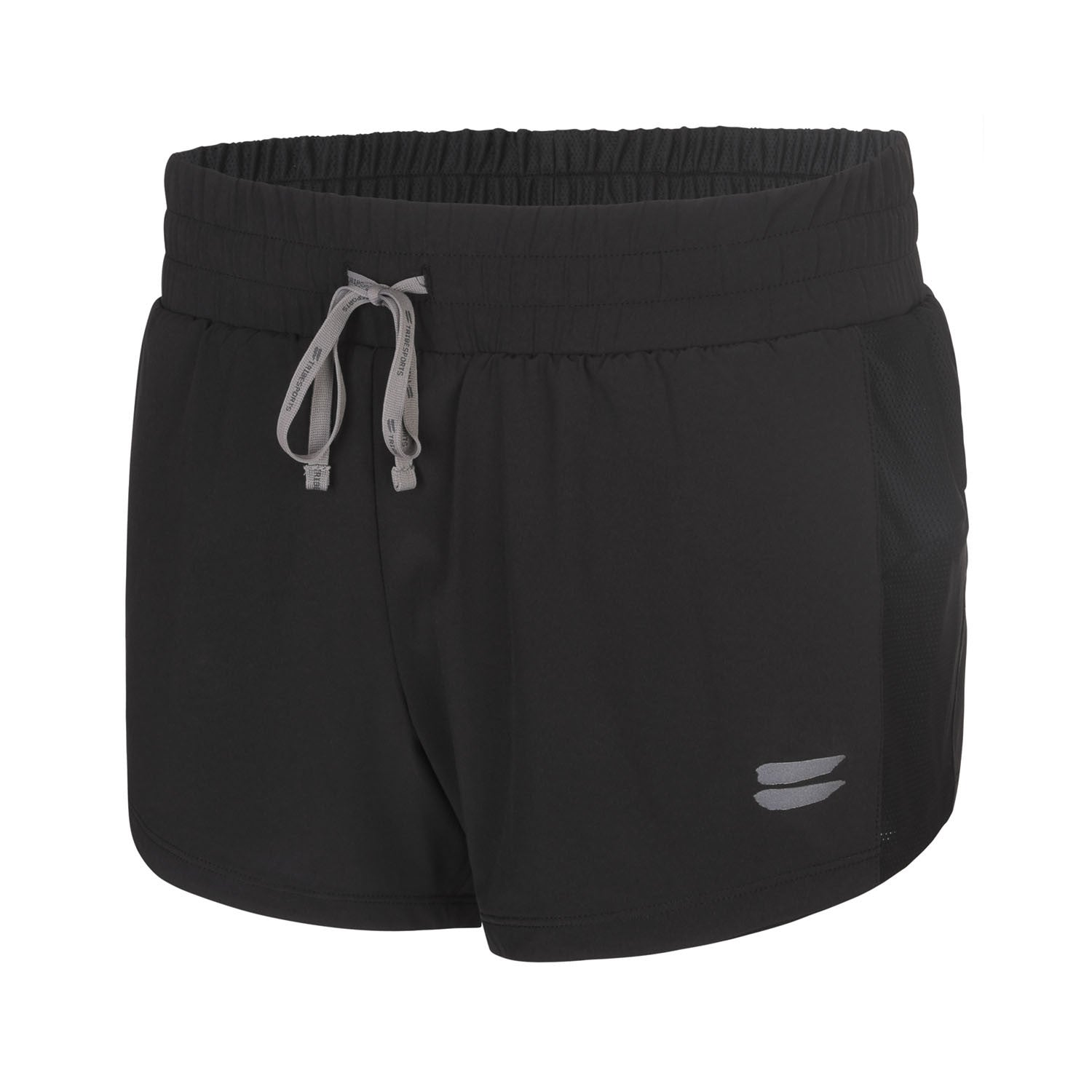 Women's 2 in 1 Running Shorts - Black , Tribesports - 1