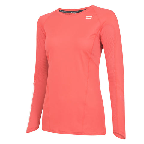 Women's Long Sleeve Running Top - Coral , Tribesports - 1