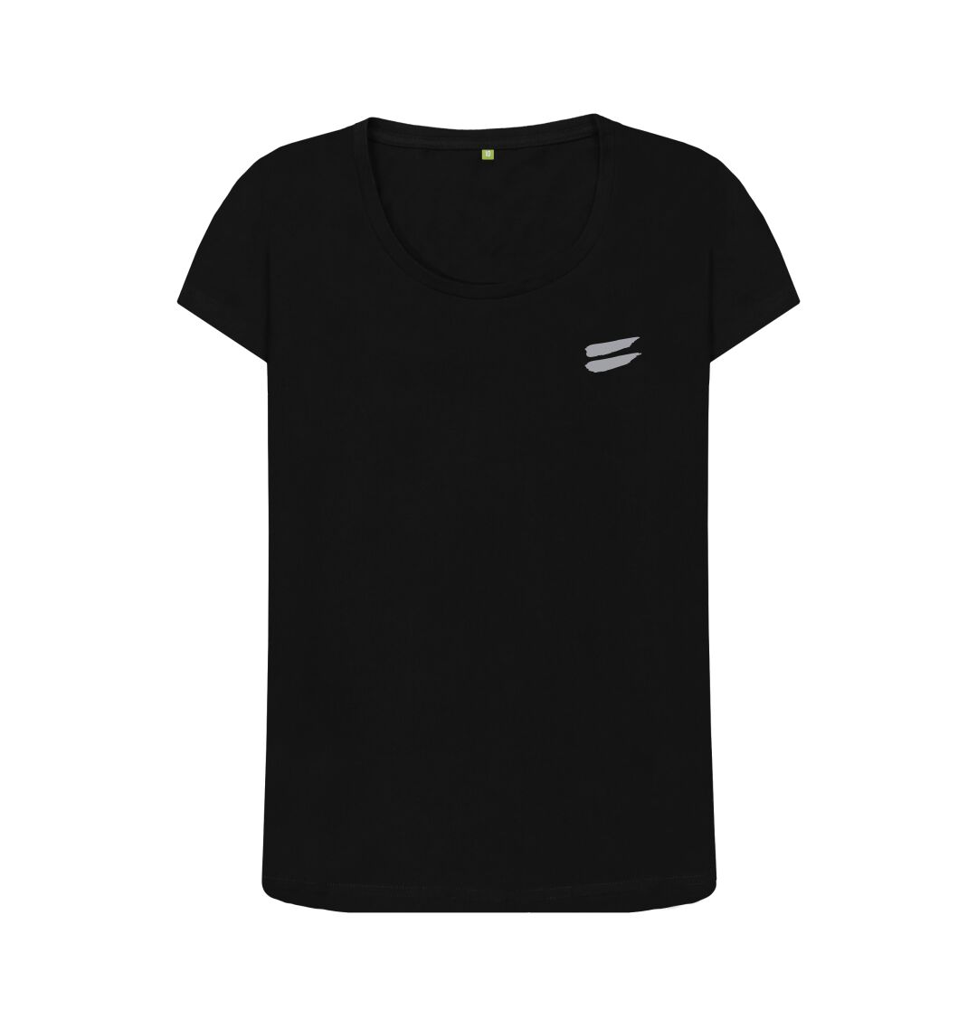 Black Tribe Scoop Tee in Steel - Women's