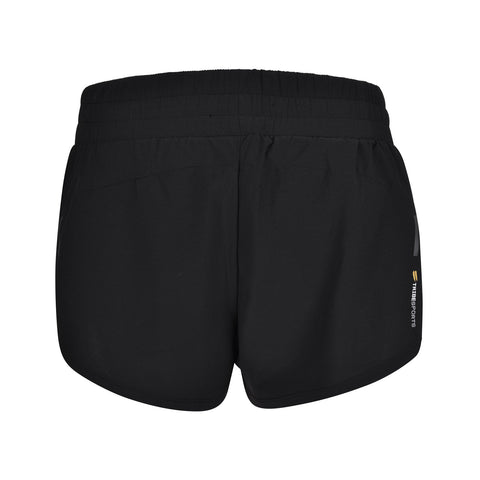 Women's 2 in 1 Running Shorts - Black , Tribesports - 2