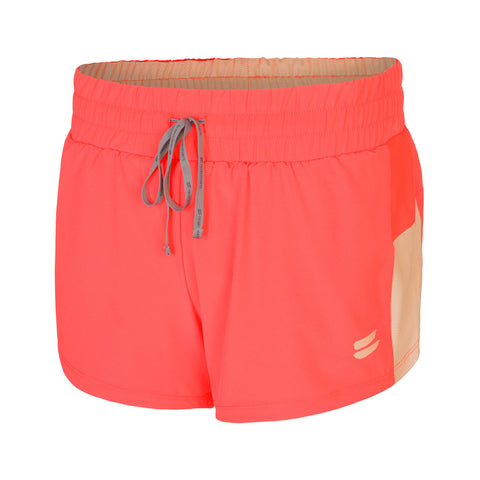 Women's 2 in 1 Running Shorts - Coral , Tribesports - 1