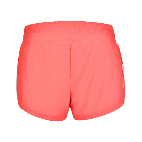 Women's 2 in 1 Running Shorts - Coral , Tribesports - 2