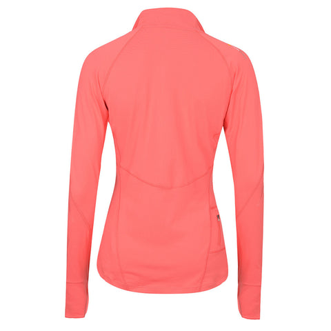 Women's Half-Zip Mid Layer - Coral , Tribesports - 2