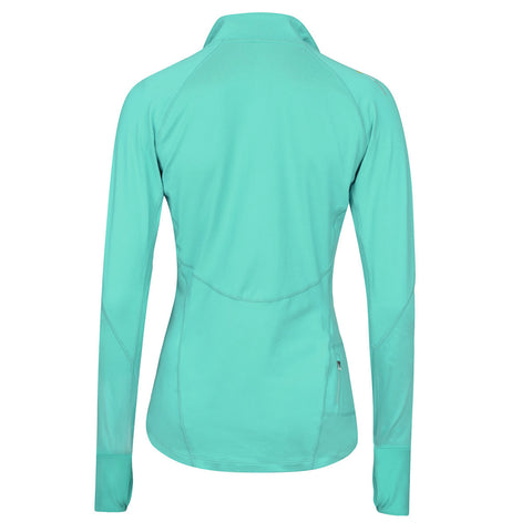Women's Half-Zip Mid Layer - Turquoise , Tribesports - 2
