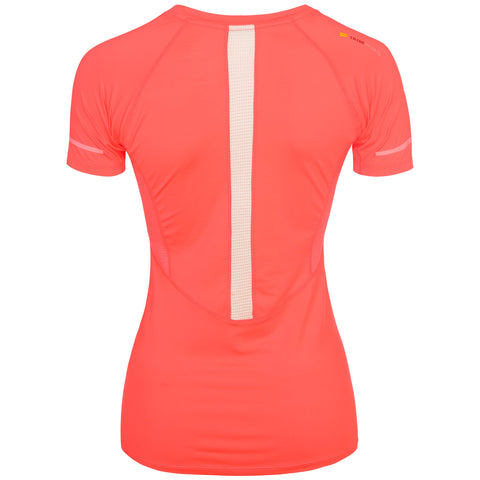 Women's Short Sleeve Running Top - Coral , Tribesports - 2