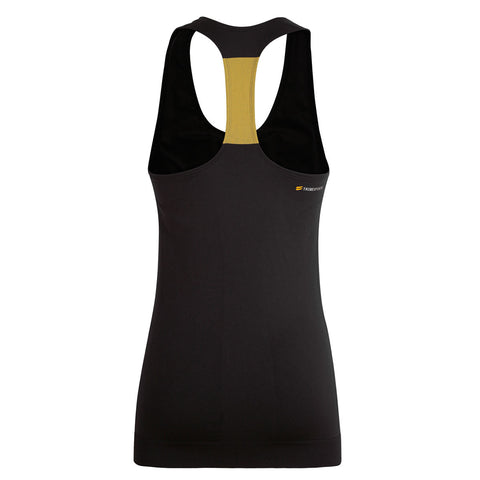 Women's Seamless Sports Vest - Black , Tribesports - 2