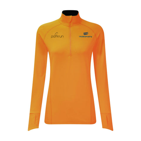 parkrun Women's Performance Quarter Zip Mid Layer