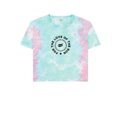 Pastel Tie Dye For the Love of the Run Tee Crop -  Women's