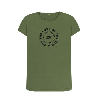 Khaki For the Love of the Run Tee - Women's