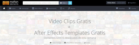 Descargar videos gratis motion element
