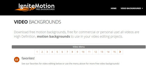 Descargar videos gratis ignite motion