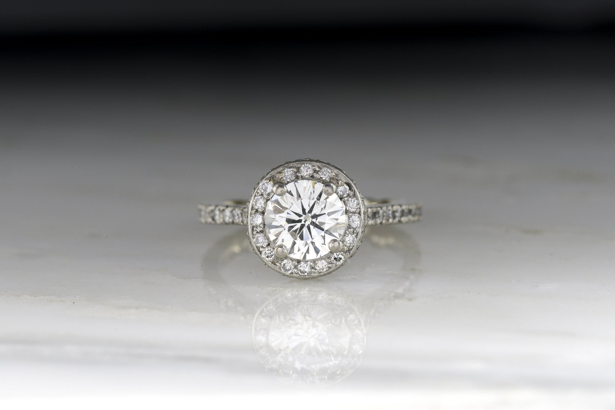 gold white both tolkowsky solitaire the ring through diamond us kay pin shown available in with engagement enhancer rings jewelers