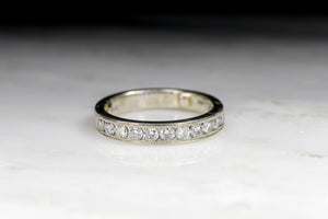 Vintage Mid-Century Round Brilliant Cut Diamond Wedding Band