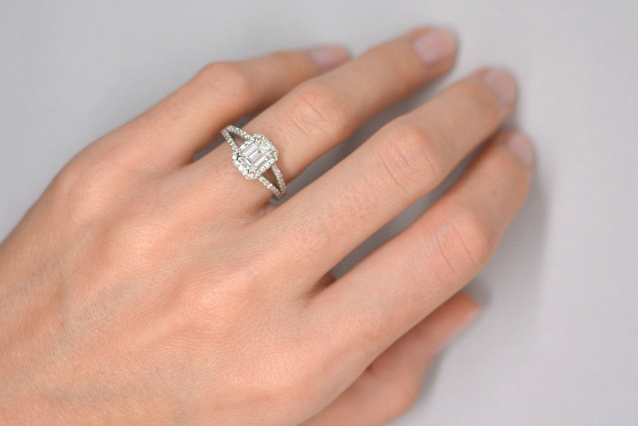 ring emerald beef e engagement products carat diamond cut platinum