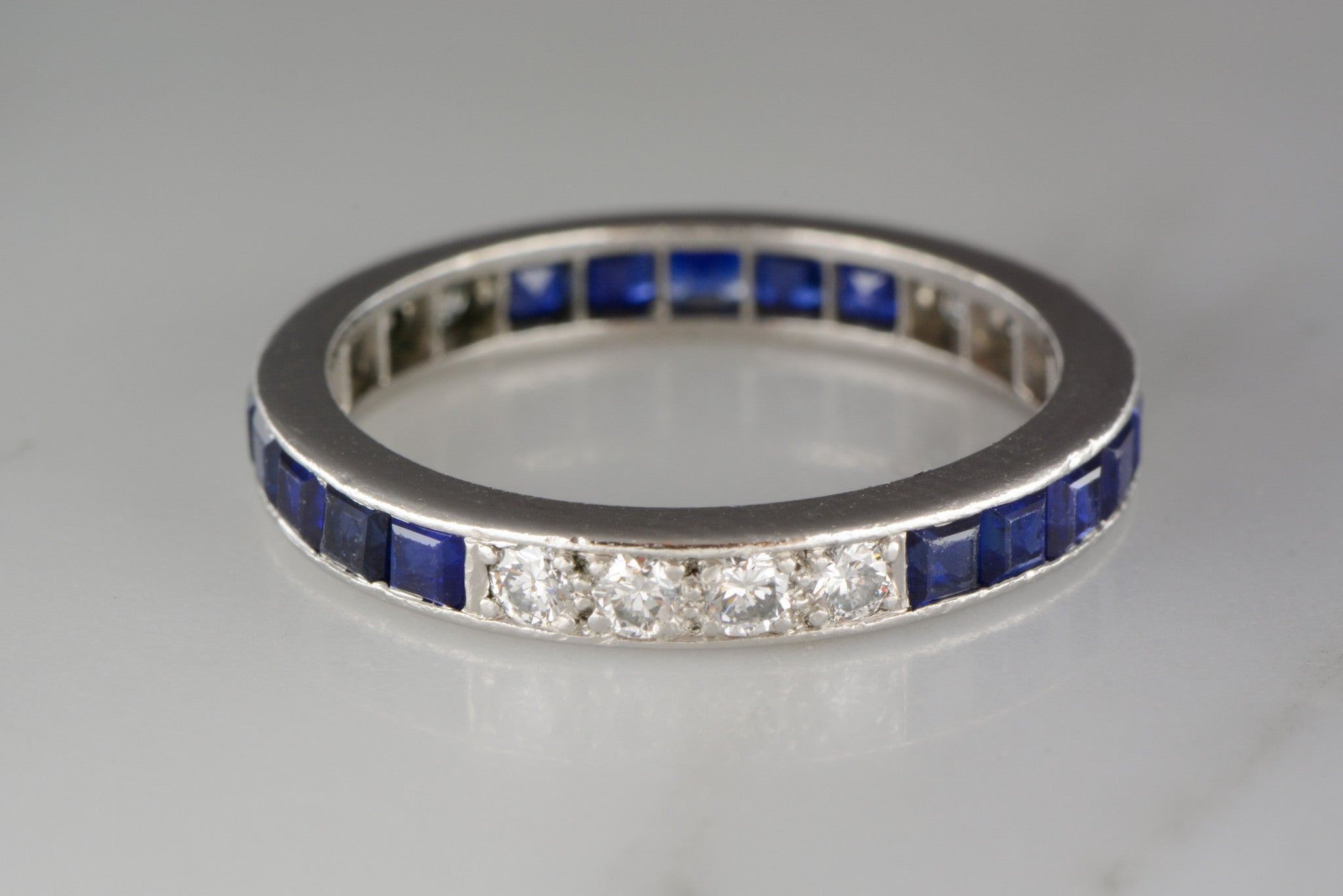 curved white gold and tw all diamond in sapphire band womens rings bands wedding
