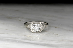 Edwardian Engagement Ring with Ornate Filigree and a GIA 1.20 Carat Old Mine Cut Diamond