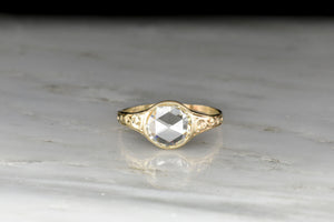 Late Victorian GIA 1.34 Carat Round Rose Cut Diamond Ring
