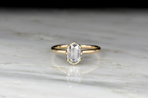 Victorian GIA .84 Carat Oval Rose Cut Diamond Solitaire