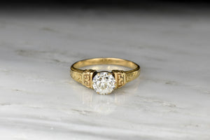 Victorian Solitaire Engagement Ring with a GIA Certified .95 Carat Old European Cut Diamond