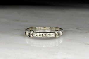 Vintage Mid Century (Edwardian Revival) White Gold Wedding or Stacking Band