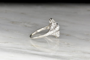 Antique 1910s Edwardian Diamond and Platinum Ring