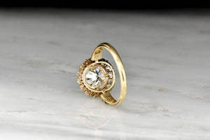 Antique French-Victorian GIA Certified 1.25 Carat Diamond Cluster Ring