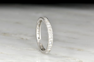 c. 1920s-1930s Art Deco Single Cut Diamond Eternity Band