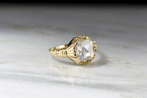 RESERVED!!! Victorian Revival GIA 1.01 Carat Cushion Rose Cut Diamond Ring
