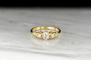 Victorian Three-Stone Rose Cut and Old Single Cut Diamond Band