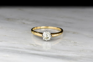 Victorian Gold and Platinum 8-Prong Old Mine Cut Diamond Engagement Ring