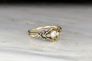 Mid-Late 1800s Victorian Rose Cut Diamond Ring