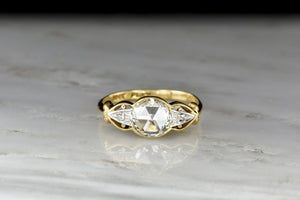 Early 1900s Two-Toned Round Rose Cut Diamond Ring