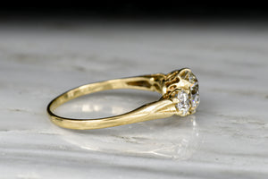 Vintage Gold and Diamond Victorian Revival Three Stone Ring