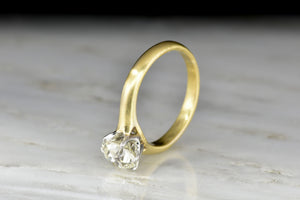 Victorian Six-Prong Solitaire with a GIA 1.14 Carat Old European Cut Diamond