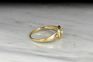 Victorian 18K Gold & Round Rose Cut Diamond Engagement Ring