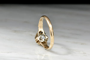 Victorian Epaulette Ring with a GIA .96 Carat Old European Cut Diamond