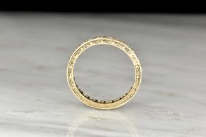 RESERVED!!! Engraved Victorian Old European Cut Diamond Band