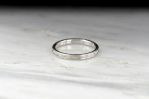 Post-WWII Platinum Wedding Band or Stacking Ring (Dated 1948)