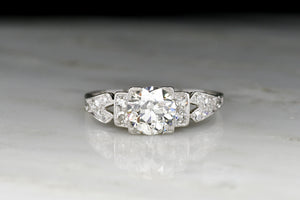 Edwardian Engagement Ring with an American Cut Diamond