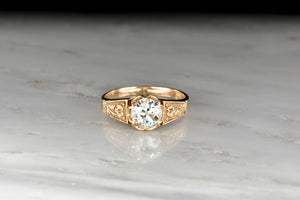 Victorian Buttercup Old European Cut Diamond Solitaire