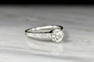 "Vintage Art Deco Era ""Tiffany & Co."" Platinum Engagement Ring"