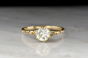 Post-Victorian / WWI Era Engagement Ring with a 1.19 Carat GIA Old European Cut Diamond