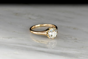 Classic Victorian Eight-Prong Solitaire with a GIA 1.30 Carat Old European Cut Diamond Center